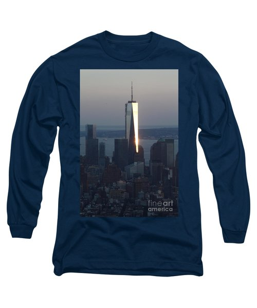 Freedom Tower Long Sleeve T-Shirt by John Telfer