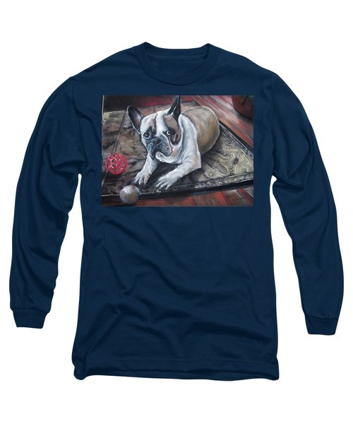 french Bull dog Long Sleeve T-Shirt by Peter Suhocke
