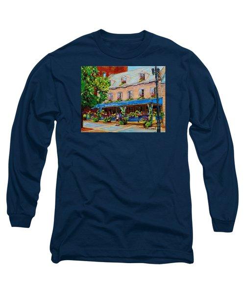 French Restaurant Jardin Nelson Paris Style Bistro Place Jacques Cartier Terrace Garden C Spandau   Long Sleeve T-Shirt