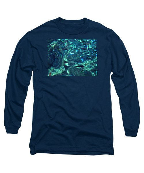 Long Sleeve T-Shirt featuring the photograph Fresh Clean Santorini Ocean  Water by Colette V Hera  Guggenheim