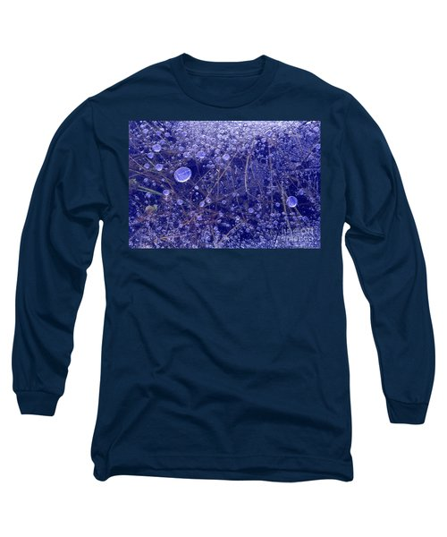 Frozen Bubbles In The Merced River Yosemite Natioinal Park Long Sleeve T-Shirt