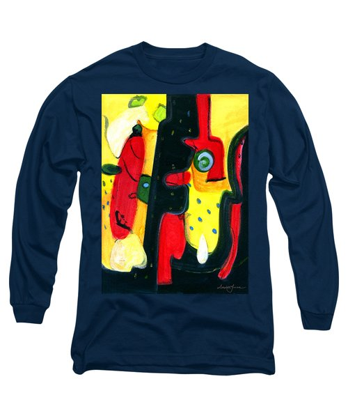 Long Sleeve T-Shirt featuring the painting Fuego by Stephen Lucas