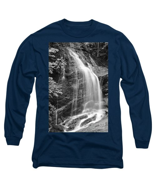 Fuller Falls Waterfall Black And White Long Sleeve T-Shirt