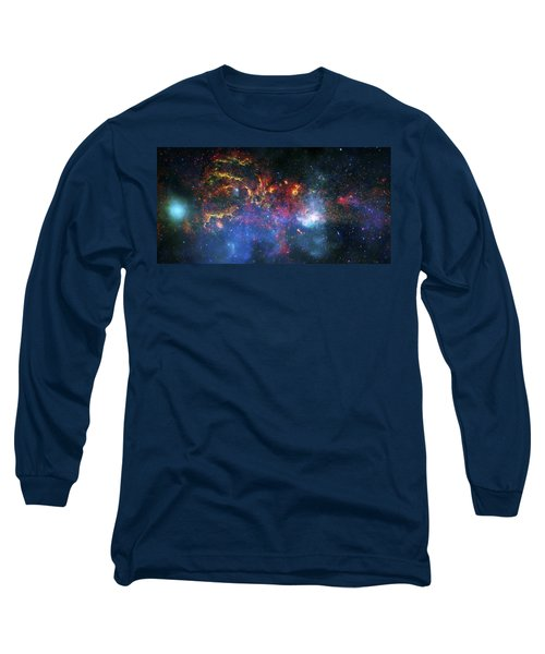 Galactic Storm Long Sleeve T-Shirt by Jennifer Rondinelli Reilly - Fine Art Photography