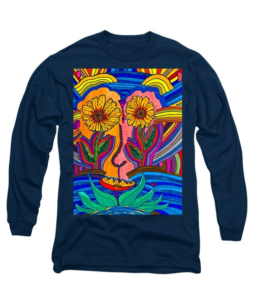 Garden Face - Lotus Pond - Daisy Eyes Long Sleeve T-Shirt