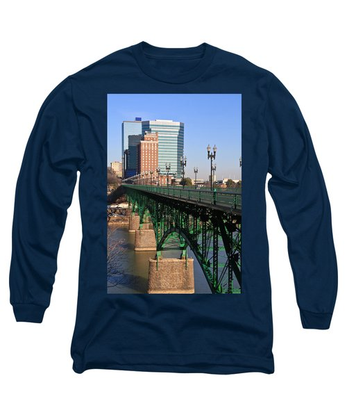 Gay Street Bridge Knoxville Long Sleeve T-Shirt by Melinda Fawver