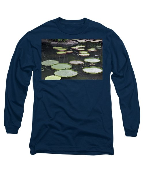 Long Sleeve T-Shirt featuring the photograph Giant Lily Pads by Shoal Hollingsworth