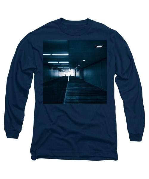 Gloomy Blue Long Sleeve T-Shirt