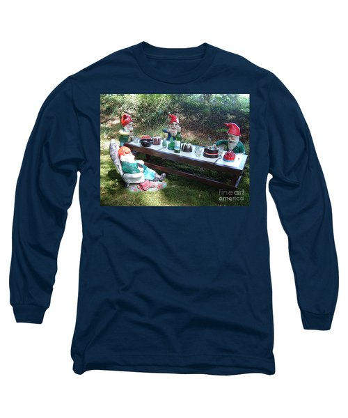 Gnome Cooking Long Sleeve T-Shirt by Richard Brookes