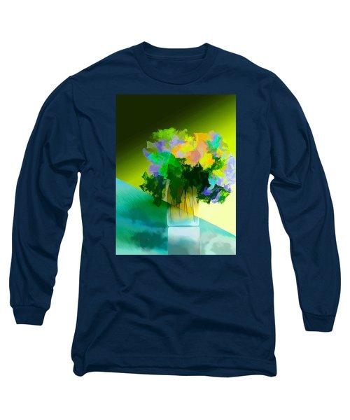 Long Sleeve T-Shirt featuring the digital art Go Fleur by Frank Bright