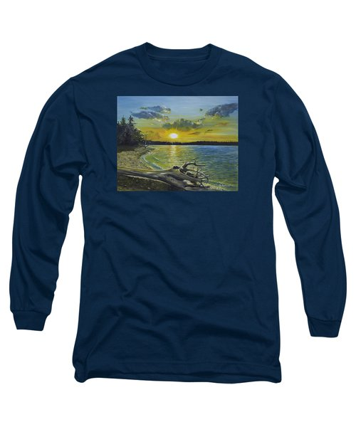 Golden Afternoon At Ketron Island Long Sleeve T-Shirt