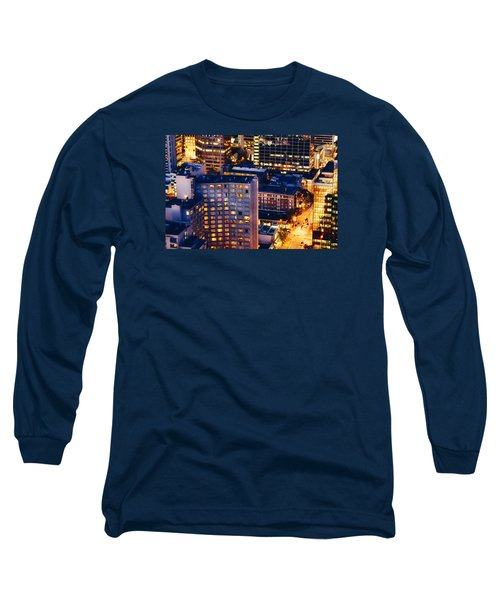 Long Sleeve T-Shirt featuring the photograph Golden Cityscape Vancouver Mcccl by Amyn Nasser