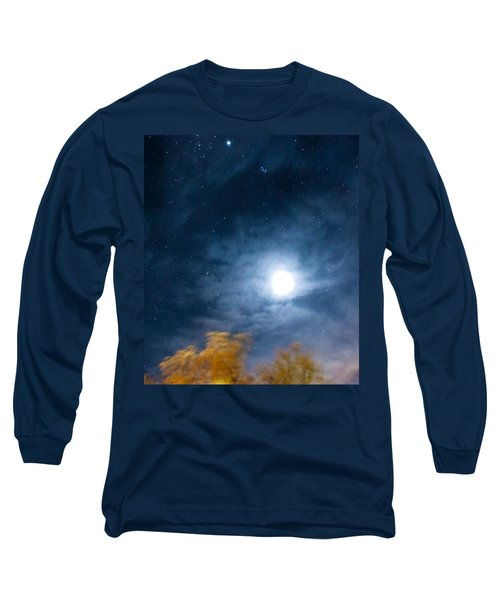 Long Sleeve T-Shirt featuring the photograph Golden Tree  by Angela J Wright