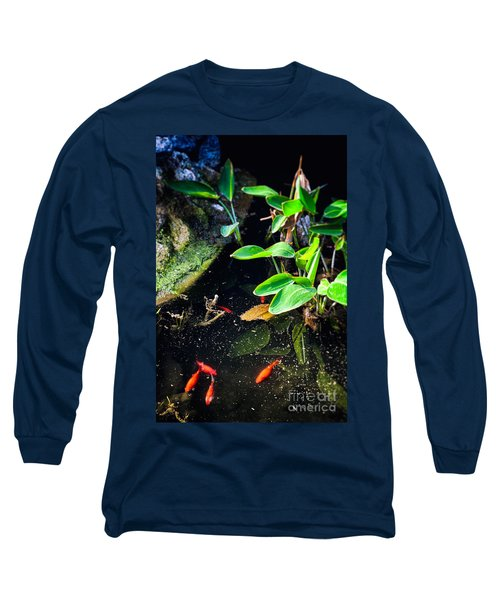 Long Sleeve T-Shirt featuring the photograph Goldfish In Pond by Silvia Ganora