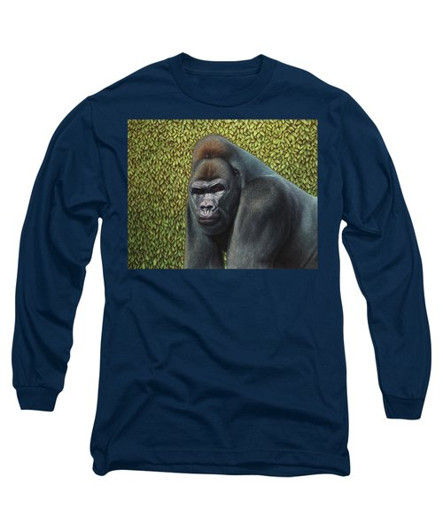 Gorilla With A Hedge Long Sleeve T-Shirt