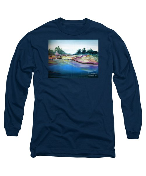 Long Sleeve T-Shirt featuring the painting Gowrie Creek Spring by Therese Alcorn