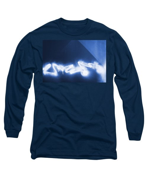 Graffiti Spray Blue Long Sleeve T-Shirt