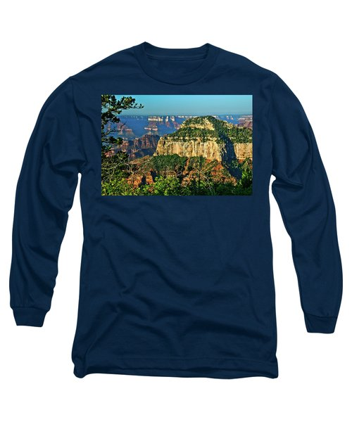 Long Sleeve T-Shirt featuring the photograph Grand Canyon Peak Angel Point by Bob and Nadine Johnston