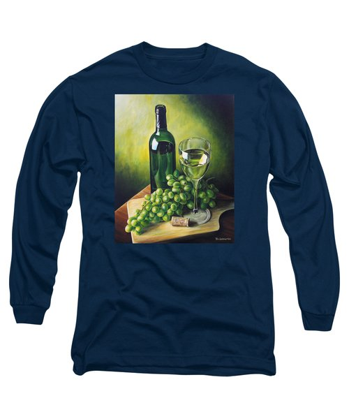 Grapes And Wine Long Sleeve T-Shirt by Kim Lockman