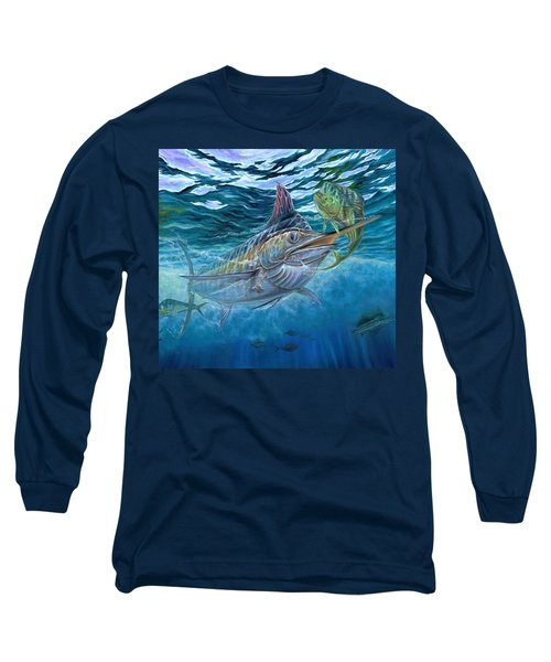 Great Blue And Mahi Mahi Underwater Long Sleeve T-Shirt