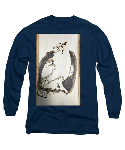 Long Sleeve T-Shirt featuring the digital art Great Horned Owl by Terry Frederick