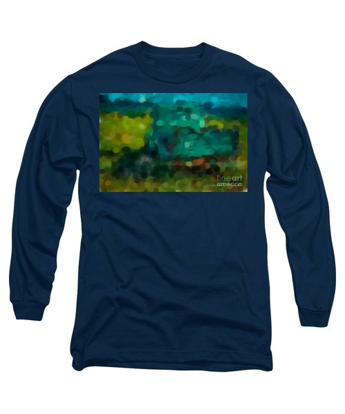 Green Truck In Abstract Long Sleeve T-Shirt