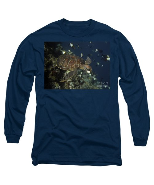Long Sleeve T-Shirt featuring the photograph Hawksbill Turtle by Sergey Lukashin