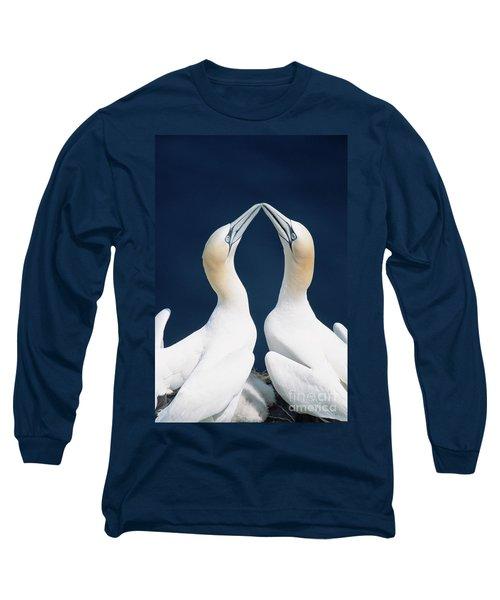 Greeting Gannets Canada Long Sleeve T-Shirt by Yva Momatiuk John Eastcott