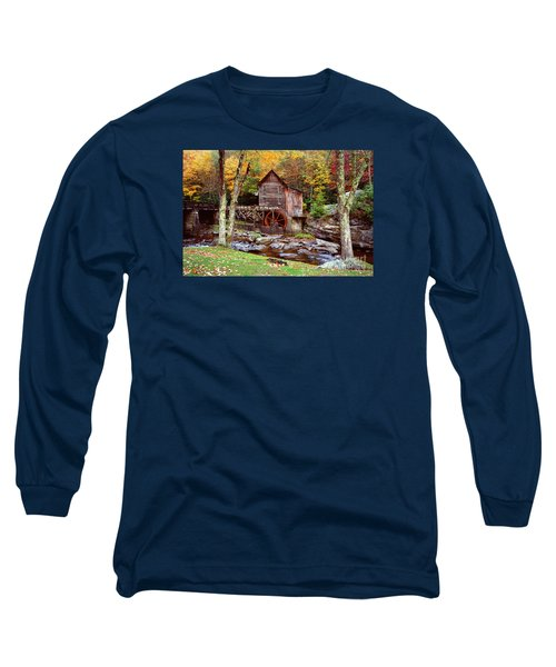 Grist Mill In Babcock St. Park Long Sleeve T-Shirt