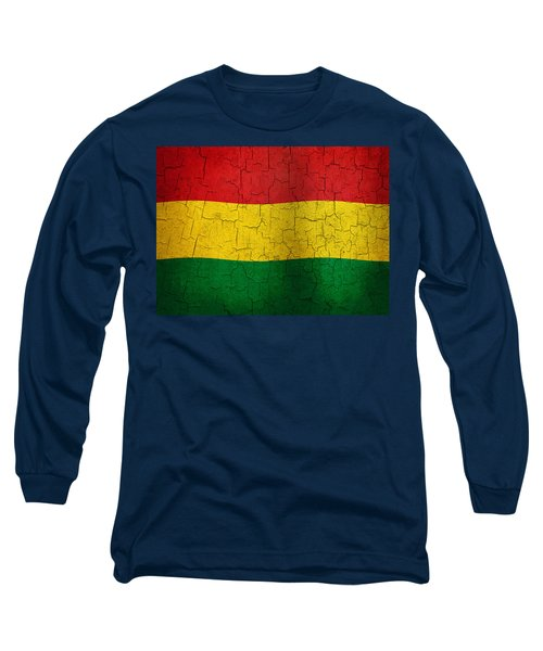 Grunge Bolivia Flag Long Sleeve T-Shirt