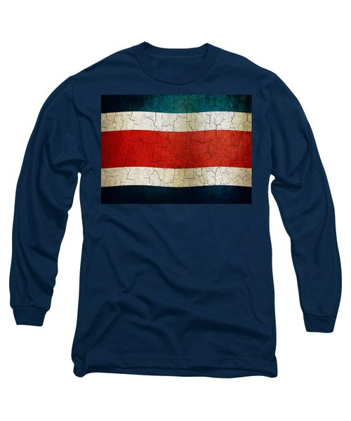 Grunge Costa Rica Flag Long Sleeve T-Shirt