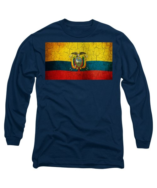Grunge Ecuador Flag Long Sleeve T-Shirt