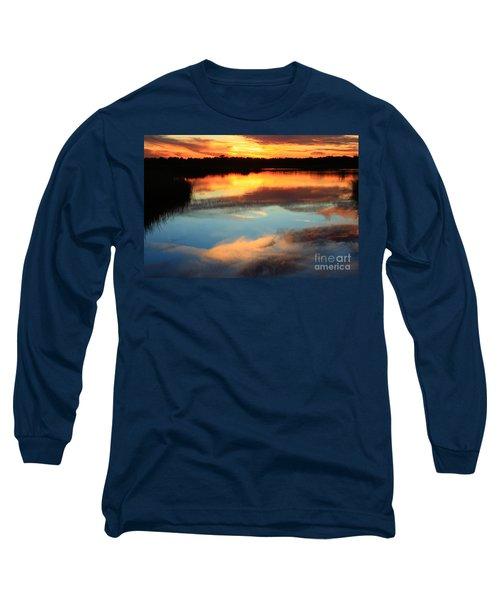 Guana River Sunset Long Sleeve T-Shirt