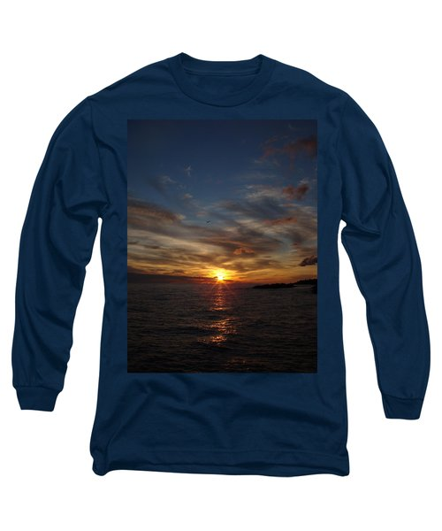 Long Sleeve T-Shirt featuring the photograph Gull Rise by Bonfire Photography