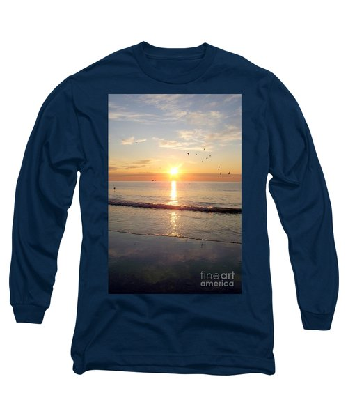 Gulls Dance In The Warmth Of The New Day Long Sleeve T-Shirt by Eunice Miller