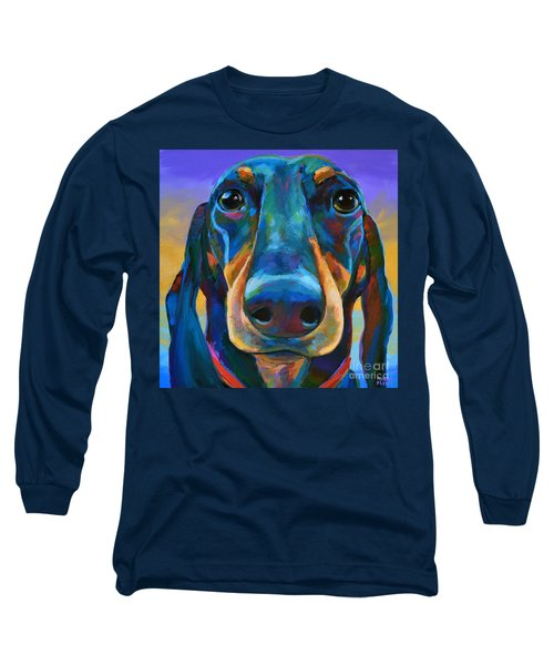 Long Sleeve T-Shirt featuring the painting Gus by Robert Phelps