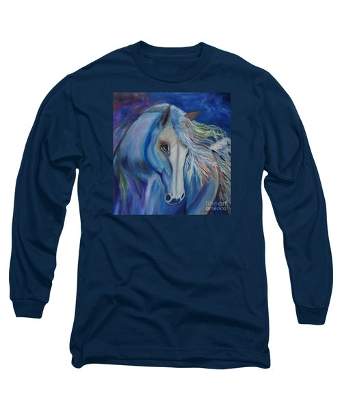 Long Sleeve T-Shirt featuring the painting Gypsy Shadow by Jenny Lee
