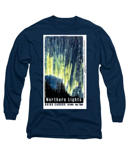 Long Sleeve T-Shirt featuring the photograph Haiga Poster Haiku Canada Conference  by Peter v Quenter