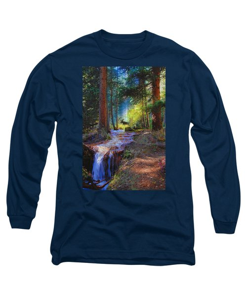 Hall Valley Moose Long Sleeve T-Shirt by J Griff Griffin