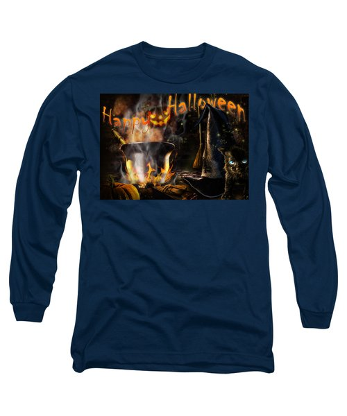 Halloween' Spirit Greeting Card Long Sleeve T-Shirt
