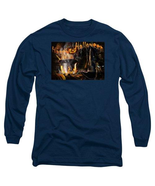 Halloween' Spirit Greeting Card Long Sleeve T-Shirt