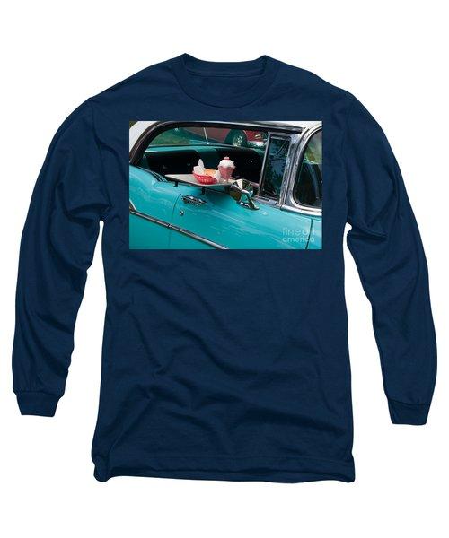 Long Sleeve T-Shirt featuring the photograph Hamburger Drive In Classic Car by Gunter Nezhoda