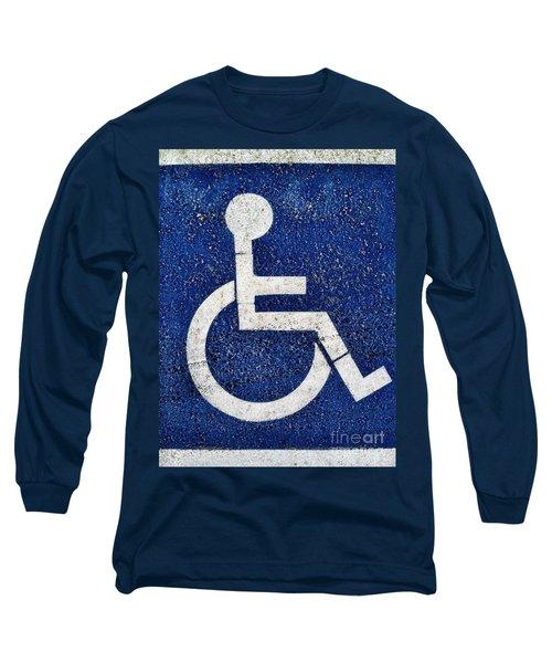 Handicapped Symbol Long Sleeve T-Shirt
