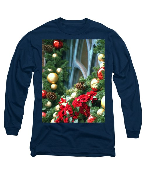 Happy Chirstmas Long Sleeve T-Shirt by Rachel Mirror