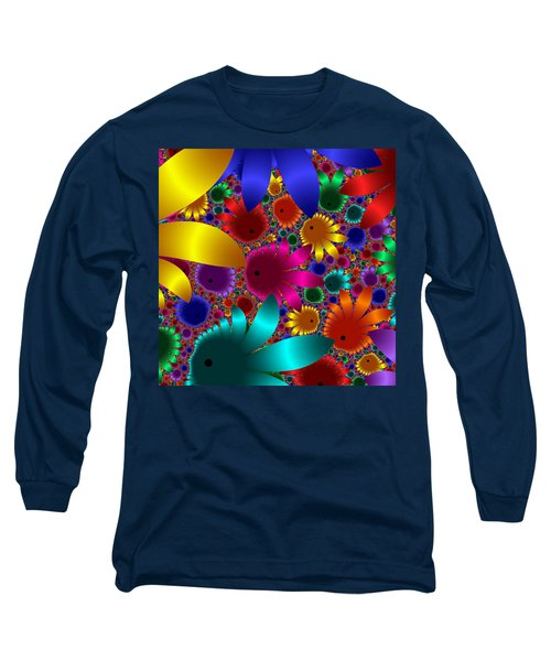 Happy Flowers Long Sleeve T-Shirt