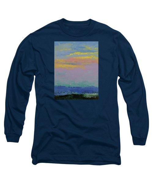 Harbor Sunset Long Sleeve T-Shirt by Gail Kent