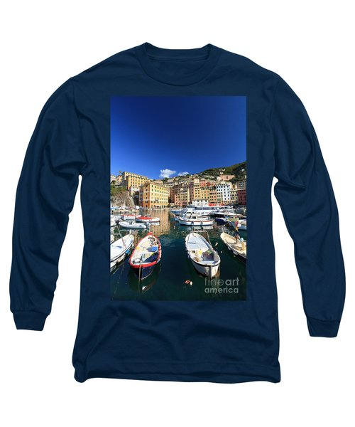 Long Sleeve T-Shirt featuring the photograph Harbor With Fishing Boats by Antonio Scarpi