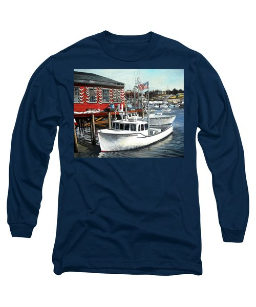 Hard Merchandise Rocky Neck Long Sleeve T-Shirt by Eileen Patten Oliver