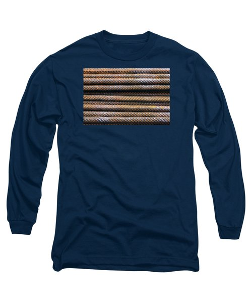 Hard Metal Rebar Pattern Long Sleeve T-Shirt