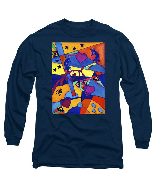 Harvesting The Love Kokopelli Art  Long Sleeve T-Shirt